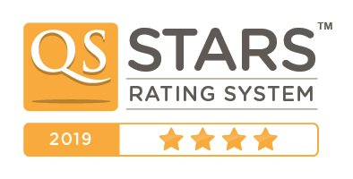 Four star rating by QS stars for Solent