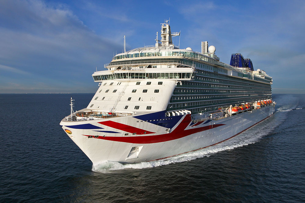 The P&O Cruises ship, Britannia at sea