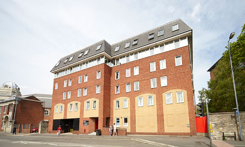 Exterior shot of Solent's Chantry student residence